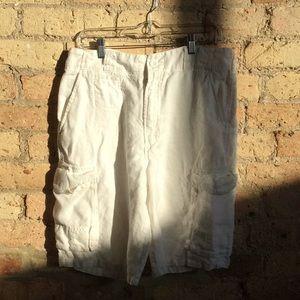 Saks Firth  ave linen shorts